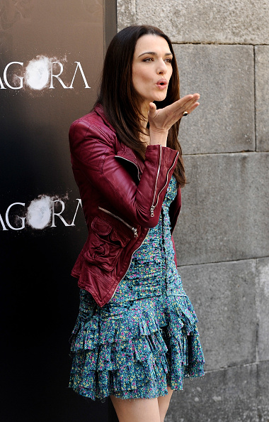 Leather Jacket「Celebrities Attend 'Agora' Photocall in Madrid」:写真・画像(2)[壁紙.com]