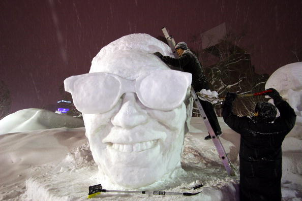 Mombetsu Ice Festival「Koizumi visits Sapporo Snow Festival」:写真・画像(15)[壁紙.com]
