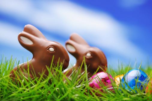 イースターバニー「チョコレートイースター卵、ウサギカラフルな」:スマホ壁紙(13)