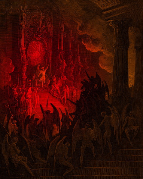 Hell「Paradise Lost: Satan in Council,  engraving by Gustave Doré」:写真・画像(13)[壁紙.com]