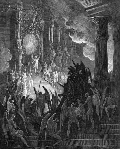 Hell「Paradise Lost: Satan in Council,  engraving by Gustave Doré」:写真・画像(15)[壁紙.com]