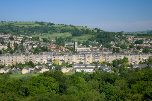 UNESCO「View across the historic city of Bath with rows of Georgian houses and the grand Abbey」:スマホ壁紙(14)