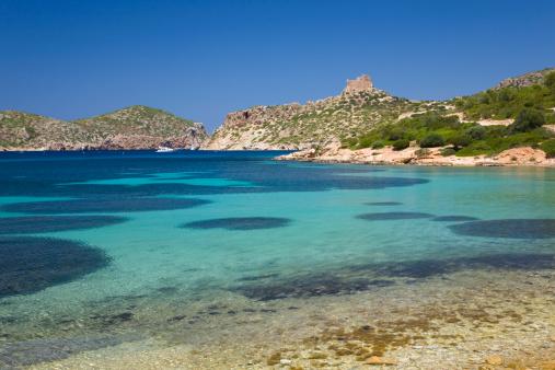 Shallow「View across bay to the castle, Cabrera, Mallorca」:スマホ壁紙(19)