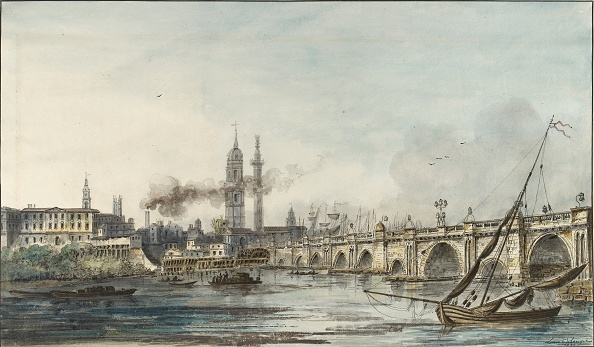 18th Century「View Across The Thames Towards The Church Of St Magnus And The Monument」:写真・画像(11)[壁紙.com]