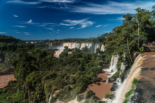 World Heritage「View across the Upper Circuit of multiple waterfalls on the Argentinian side, Iguazu Falls (UNESCO World Heritage Site), Iguazu, Argentina」:スマホ壁紙(19)