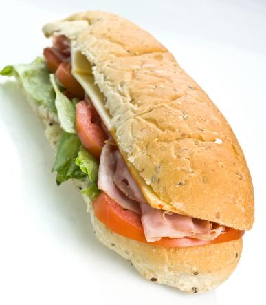 Monterey Jack Cheese「Ham and Cheese Submarine Sandwich」:スマホ壁紙(15)