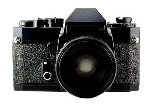 1980-1989「Classic Manual 35mm Camera Isolated on White」:スマホ壁紙(17)