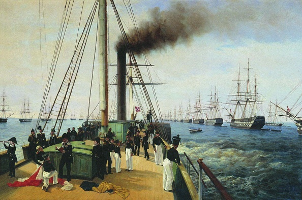 Russian Military「The Review Of The Baltic Fleet By The Emperor Nicholas I On The Steamer Nevka」:写真・画像(16)[壁紙.com]
