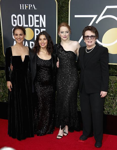 エマ・ストーン「75th Annual Golden Globe Awards - Arrivals」:写真・画像(5)[壁紙.com]