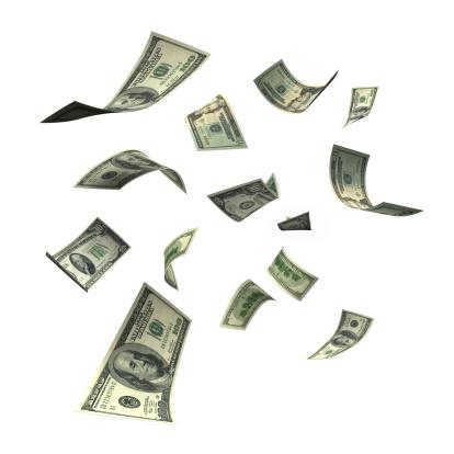 American One Hundred Dollar Bill「Falling Money (XXL)」:スマホ壁紙(2)