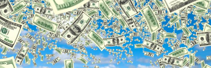 American One Hundred Dollar Bill「falling money」:スマホ壁紙(7)