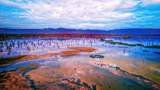 Antenna - Aerial「Lake Fyans at dawn」:スマホ壁紙(4)