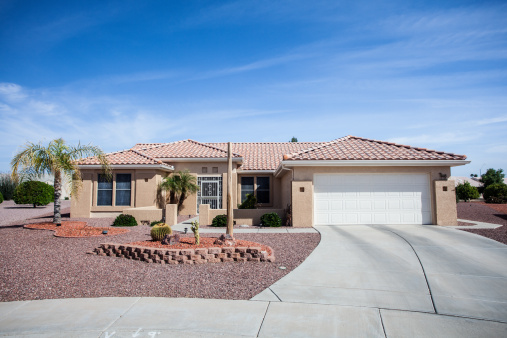Southwest USA「Arizona-style house design common to the region」:スマホ壁紙(2)