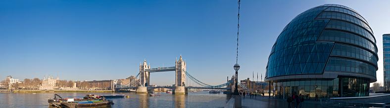 London Bridge - England「Thames at Tower panorama」:スマホ壁紙(8)