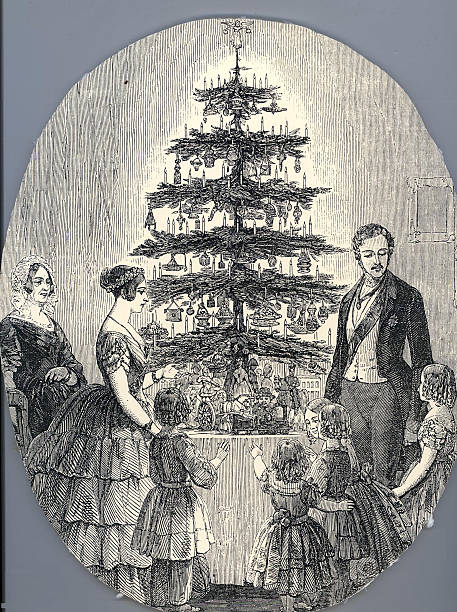 Christmas with Queen Victoria, Prince Albert, their children and Queen Victoria's mother, in 1848 (f:ニュース(壁紙.com)