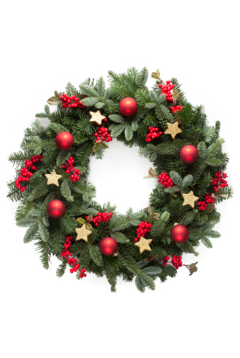 Garland - Decoration「Christmas wreath」:スマホ壁紙(1)