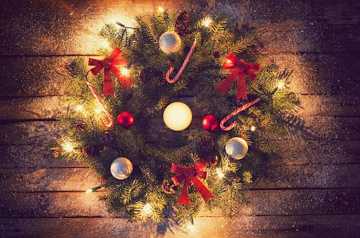 Floral Garland「Christmas Wreath」:スマホ壁紙(17)