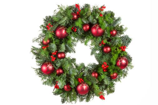 リース「クリスマスのリース」:スマホ壁紙(11)