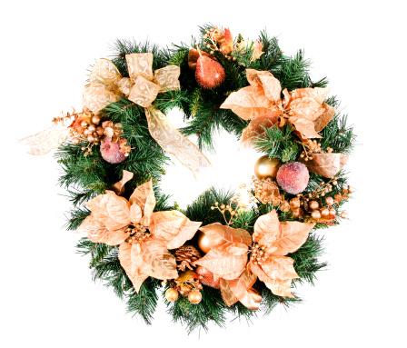 Gold Colored「Christmas Wreath」:スマホ壁紙(7)