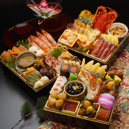 お正月「Osechi -Japanese traditional food for the new year」:スマホ壁紙(3)