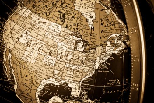 Latitude「Sepia Map Closeup of United States of America on Globe」:スマホ壁紙(14)