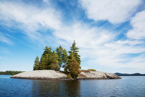アディロンダック森林保護区「Island in Northern Lake」:スマホ壁紙(12)