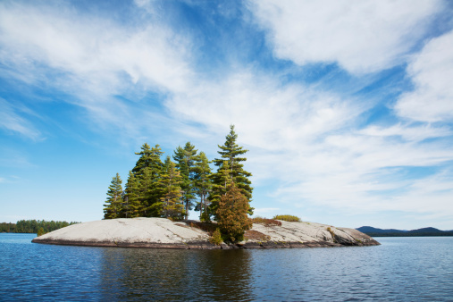 Adirondack Forest Preserve「Island in Northern Lake」:スマホ壁紙(11)
