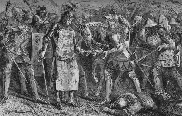 'Surrender of the King of France at Poitiers', September 1356, (c1880):ニュース(壁紙.com)