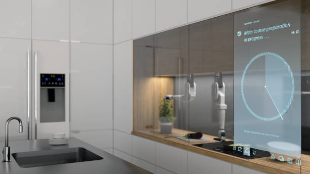 Modern automated kitchen:スマホ壁紙(壁紙.com)