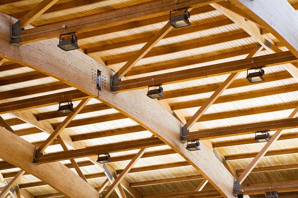 曲線「Timber roof structure, detail」:写真・画像(13)[壁紙.com]