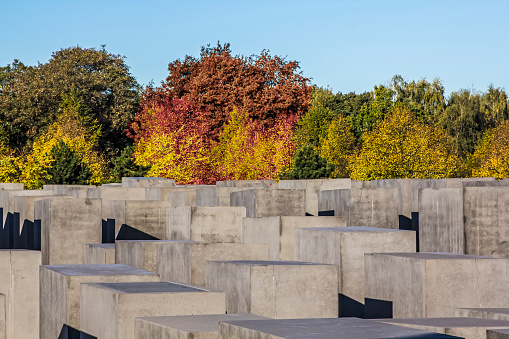 Nazism「Memorial to Murdered Jews of Europe designed by Peter Eisenman, Tiergarten, Mitte, Berlin, Germany」:スマホ壁紙(2)