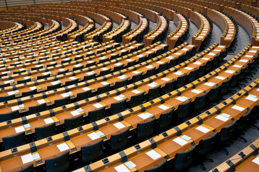 Government「Semi-Circle of Empty Seats European Parliament Brussels」:スマホ壁紙(13)