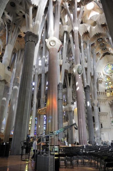 Sagrada Familia - Barcelona「Preparations Ahead Of Pope Benedict XVI's Visit」:写真・画像(5)[壁紙.com]