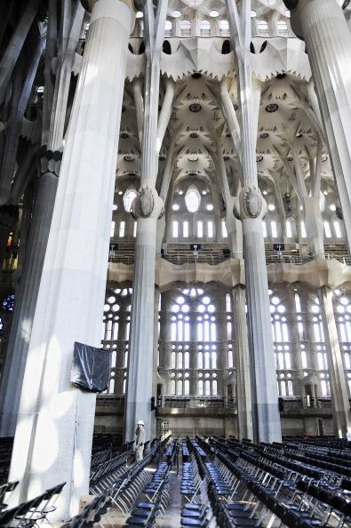 Sagrada Familia - Barcelona「Preparations Ahead Of Pope Benedict XVI's Visit」:写真・画像(2)[壁紙.com]