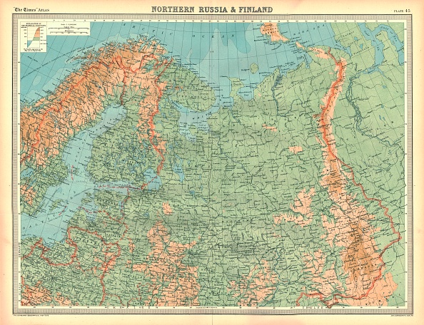 Finland「Map Of Northern Russia And Finland Artist Unknown」:写真・画像(18)[壁紙.com]