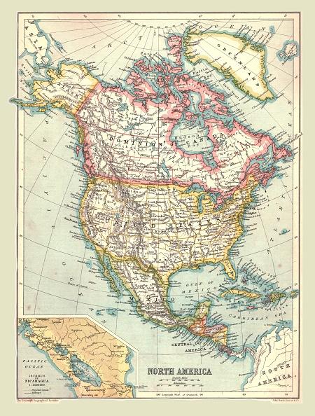 1900-1909「Map Of North America」:写真・画像(13)[壁紙.com]