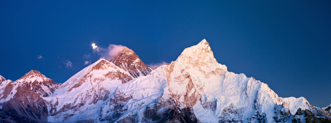 Khumbu Glacier「Mount Everest, Lhotse and Nuptse - Himalaya's panorama」:スマホ壁紙(8)