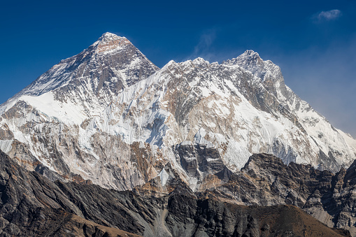 Himalayas「Mount Everest and Lhotse from Renjo La, Himalaya's 45 MPix panorama」:スマホ壁紙(11)