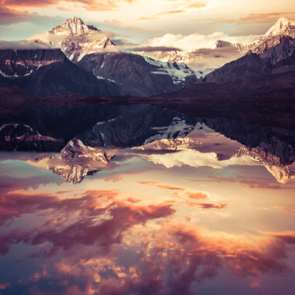 Sagarmāthā National Park「Mount Everest Reflection」:スマホ壁紙(7)