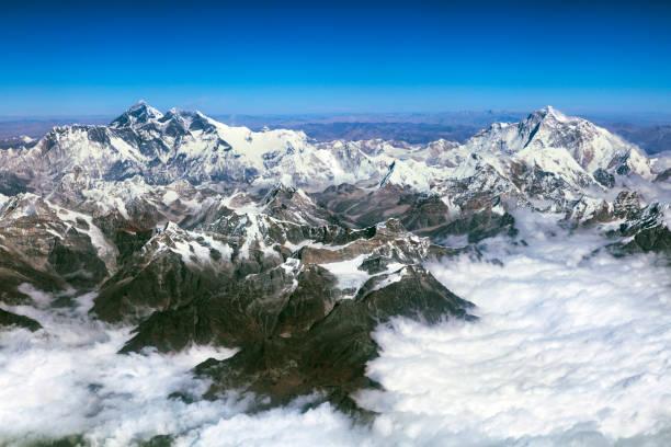 Mount Everest, Lhotse, Makalu, Himalaya, Nepal, Aerial View:スマホ壁紙(壁紙.com)