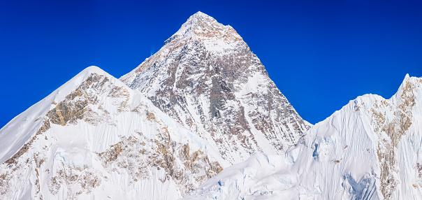 Khumbu Glacier「Mount Everest and Nuptse panoramic view from Kala Pattar」:スマホ壁紙(12)