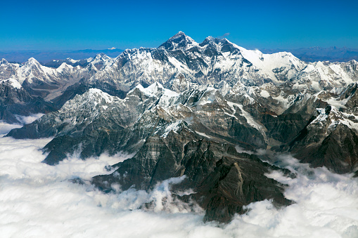 Himalayas「Mount Everest from above, Himalaya, Nepal」:スマホ壁紙(7)