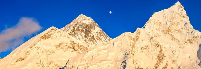 Khumbu Glacier「Mount Everest, Nuptse panoramic view」:スマホ壁紙(17)