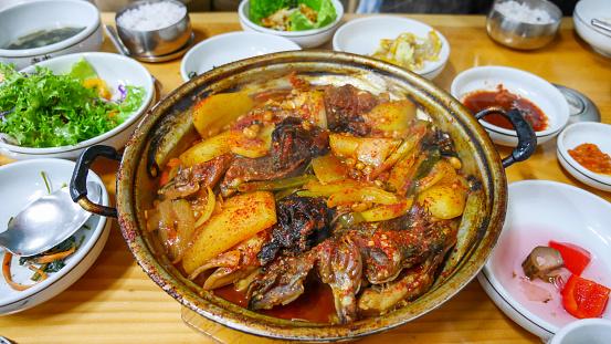済州島「Jeju island traditional food.」:スマホ壁紙(16)