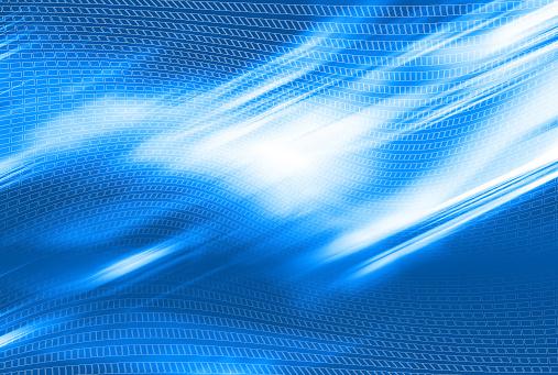 Wire-frame Model「Aetherize Blue 05」:スマホ壁紙(9)