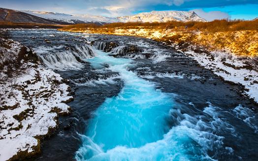Natural Landmark「Bruarfoss Waterfall」:スマホ壁紙(10)