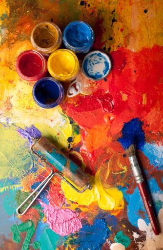 Artist's Palette「Mess in the artstudio」:スマホ壁紙(13)