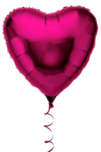 ハート「Pink heart shaped foil party balloon」:スマホ壁紙(14)