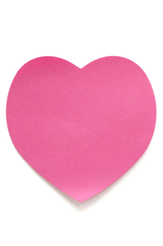 Heart「Pink Heart Post-it Note on white」:スマホ壁紙(15)