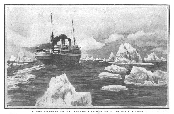 Threading「A Liner Threading Her Way Through A Field Of Ice In The North Atlantic」:写真・画像(7)[壁紙.com]